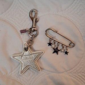 Coach bag accessories/key chains